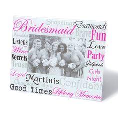 Bridesmaid Words Photo Frame | Icing