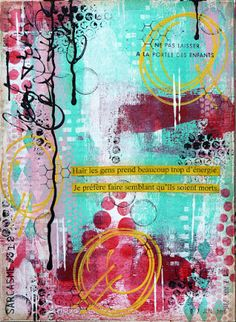 Wood And Fabric: art journal