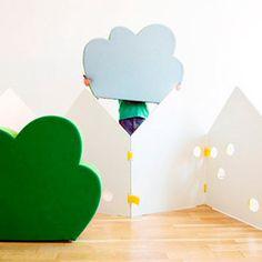 ¿Quieres ser original en decorar #dormitorios #infantiles? CharHadas os muestra un #biombo infantil súper divertido ¡Descúbrelo! #muebles #decoracion #hogar