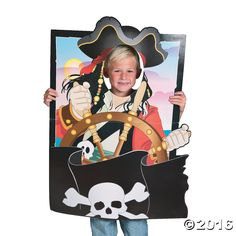Peek out the face cutout and instantly transform into a pirate with this Pirate Photo Prop. Keep this action-packed party prop at your photo booth or ...