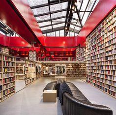 sonia rykiel's café-cum-library concept for book-lined paris pop-up shop