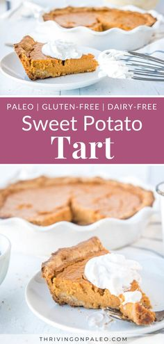 Mouthwateringly good Paleo Sweet Potato pie can make your holiday dinner complete with oohs and ahhs of satisfied eaters. It's that perfect gluten-free dessert that's just heavenly! Paleo Dessert, Gluten Free Desserts, Dessert Recipes, Fall Recipes, Holiday Recipes, Paleo Thanksgiving, Paleo Sweet Potato, Potato Pie, Valentines Food