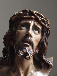 Jesus Statue Santo Cristo de Limpias 1920s Vintage Antique Religious Glass Eyes | eBay