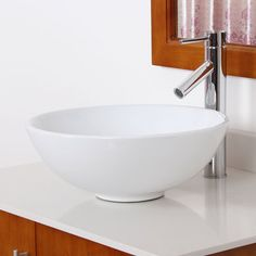 Elite High Temperature Grade A Ceramic Bathroom Sink with Unique Round Design and Chrome Finish Faucet Combo | Overstock.com Shopping - The Best Deals on Bathroom Sinks