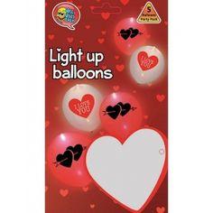 ΣΕΤ ΜΕ 2 LED ΜΠΑΛΟΝΙΑ ΜΕ ΚΑΡΔΙΕΣ ΤΥΠΩΜΕΝΕΣ – ΚΩΔ.:1202247-BB Light Up Balloons, Led