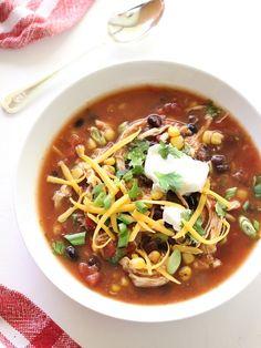 Crushing on Gina Homolka of Skinnytaste, Slow Cooker Chicken Enchilada Soup and a Cookbook Giveaway