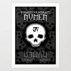 Kamikaze Numen Art Print by Johannes Kamikaze - $18.00 Skull, Art Prints, Projects, Art Impressions, Log Projects, Blue Prints, Fine Art Prints, Art Print
