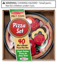 Melissa and Doug Kids Toys, Felt Pizza Set
