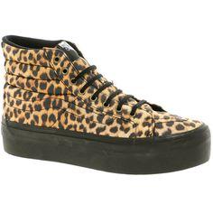 Vans Sk8-Hi Platform Leopard High Top Sneakers ($102) ❤ liked on Polyvore