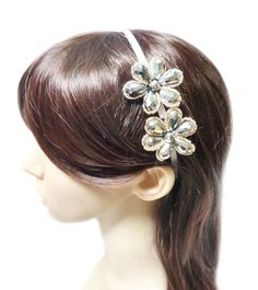 TdZ Jewel Beaded Headband - Shimmer Party Flowers -- Be sure to check out this awesome product.