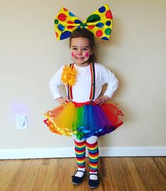 Tutu girl clown costume DIY