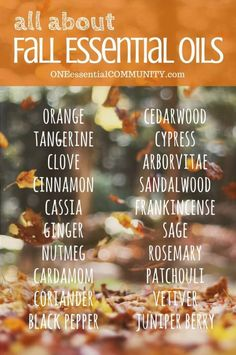 uses and benefits of the 20 best fall essential oils-- plus non-toxic, natural…