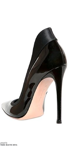 Gianvito Rossi 110mm Patent Leather & Satin Pumps
