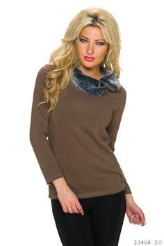 Elegant Lady Brown Sweater