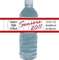 Graduation Class of 2018 Personalized Water Bottle Labels Custom Water Bottle Labels, Personalized Water Bottle Labels, Graduation Party Favors, Graduation Ideas, Hershey Candy Bars, Class Of 2018, Something To Remember, Candy Bar Wrappers, School Colors