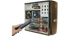 Vor dem Austausch einzelner PC-Komponenten sollte man den PC gründlich säubern und vor allem den Staub von den Bauteilen blasen, etwa mit Druckluftspray.Schalten Sie vor dem Öffnen des Rechners den PC mit dem Netzschalter aus, der sich zumeist hinten in der Nähe der Stromkabelbuchse befindet, und trennen Sie ihn vom Stromnetz. Entfernen Sie auch die angeschlossenen Gerätekabel. Anschließend lösen Sie die Schrauben der Seitenabdeckung und öffnen den PC. Ist das Gehäuse nun schon mal geöffnet…