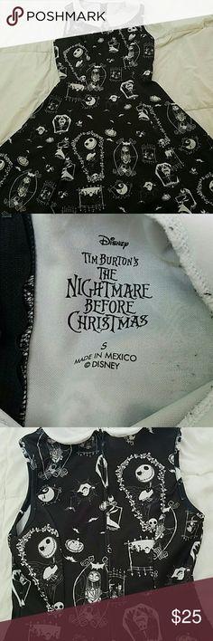 Dress Black and white nightmare before Christmas dress. Peter Pan collar, zip up back Hot Topic Dresses Midi
