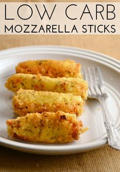 These Low Carb Mozzarella Sticks are the perfect appetizer or snack for people on low carb diets. They're also vegetarian friendly!