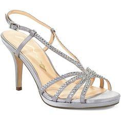 8bb953a98f42 Nina Women s Bobbie Rhinestone Sandal Heels ( 70) ❤ liked on Polyvore  featuring shoes