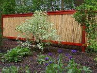 framed bamboo privacy fence