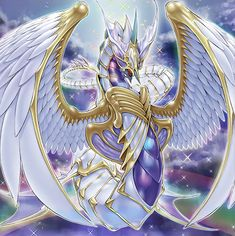 Ultimate Crystal God Rainbow Over Dragon BETA by Yugi-Master on DeviantArt Mythical Creatures Art, Magical Creatures, Fantasy Creatures, Yugioh Dragon Cards, Yugioh Dragons, Fantasy Dragon, Fantasy Art, Yugioh Monsters, Fantasy Beasts