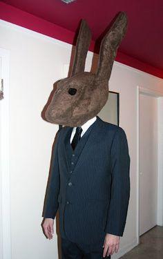 David Lynch Rabbit Head Costume