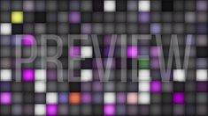 Colorful Squares on Dark Looping Background
