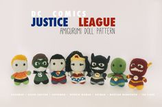 Justice League Full Cast Amigurumi Dolls inspired by DC Comics // DC Crochet Pattern Master Pack // Instant Download by electricbunnycrafts on Etsy