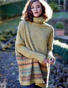 Franziska from Rowan Knitting and Crochet Magazine No. Warm Sweaters, Long Sweaters, Rowan Felted Tweed, Crochet Summer Dresses, Crochet Magazine, Crochet Designs, Fall Winter Outfits, Cardigans For Women, Hand Knitting