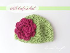 hannicraft: Newborn hat crochet pattern...now if only I knew how to use crochet patterns, I would totally make this!