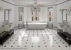 Stilvolles Badezimmer Mit Metro Fliesen