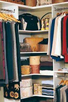 Corner of closet idea: handbags, scarves