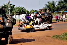 The capital of this country is Bangui, it is the best city of the whole country. You can still see the poverty the country has but it is still a very different lifestyle between the capital and the rest of the other cities.