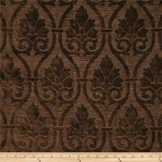 Robert Allen Promo Pascoag Chenille Chocolate from @fabricdotcom  Refresh and modernize an old piece of furniture and update it with a new look. This very heavyweight jacquard fabric is appropriate for accent pillows, upholstering furniture, headboards and ottomans.