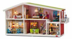 Lundby Smaland Doll House Garden for sale online Blue Striped Walls, Fake Walls, Orange Pillows, Room Setup, Bathroom Wallpaper, House Made, Bathroom Sets, Living Room Sets, Bed & Bath