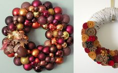 Autumn Wreaths | Holiday Decorating Ideas | Bright Bold and Beautiful