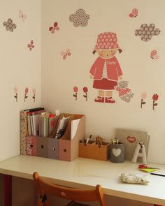Oh I would love this for my little girls bedroom (and for me! 257, Little Girl Rooms, Room Accessories, Fashion Room, Kids Decor, Girls Bedroom, Wall Decals, Wall Stickers, Wall Art