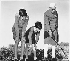 Indian Prime Minister Jawaharlal Nehru with his grandsons Rajiv and Sanjay Gandhi - 1950