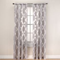 Felicity Rod Pocket Sheer Window Curtain Panel - www.BedBathandBeyond.com