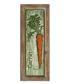 Carrot Wall Décor #zulily #zulilyfinds