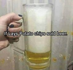 If Lay's potato chips sold beer.