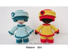 Pattern Girl miniature doll amigurumi crochet by cottonflake