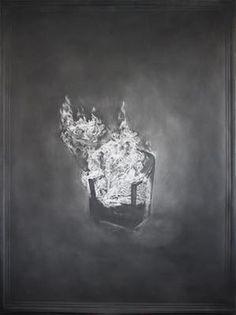 Brennender Sessel, 2014, graphite on paper, 135 x 100 cm, SOLD