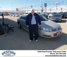 #HappyAnniversary to Tom Hughes on your 2012 #Chevrolet #Impala from Arney Donavan at Westside Chevrolet!