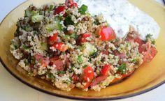 Eten met Emma!: Couscous salade met yoghurtsaus.