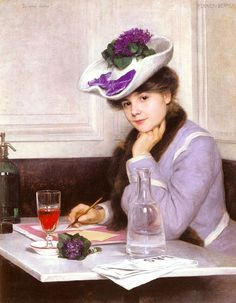 Hermann Fenner- Behmer (German, Oil on canvas. Fenner-Behmer studied at the Royal Academy of Arts in Berlin. During a stay in Paris, he trained with Gustave Boulanger and. Mrs Hudson, Royal Academy Of Arts, Woman Reading, Lost Art, Shades Of Purple, Purple Lilac, Beautiful Paintings, A4 Poster, Female Art