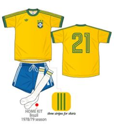 Brazil home kit for the 1978 World Cup Finals.