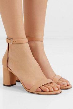 Lessnudist leather sandals by Stuart Weitzman Nude Heeled Sandals, Leather Sandals, Shoes Sandals, Dress Shoes, Women Sandals, Shoes Women, Sandals Outfit, Stuart Weitzman, Shoe Wardrobe