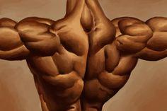 Back, biceps and shoulder workout