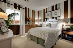 love the stripes in this room